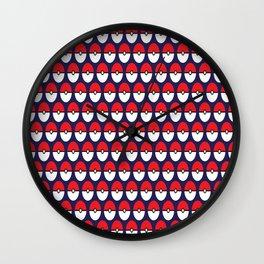 Pokeball Pattern Wall Clock