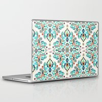 folk Laptop & iPad Skins featuring Modern Folk in Jewel Colors by micklyn