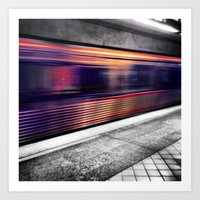 subway Art Prints featuring Subway by Yancey Wells