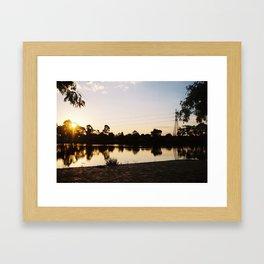 Sunset over Edwardes Lake Framed Art Print