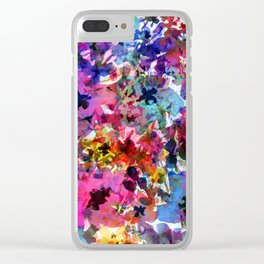 Summer Garden Batik Clear iPhone Case