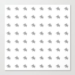 nice and easy   [pattern, black] Canvas Print