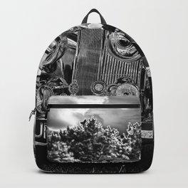 Black old car Backpack