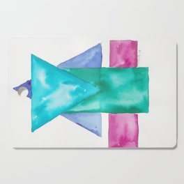 180819 Geometrical Watercolour 4| Colorful Abstract | Modern Watercolor Art Cutting Board