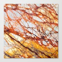 white marble Canvas Prints featuring Marble by Santo Sagese
