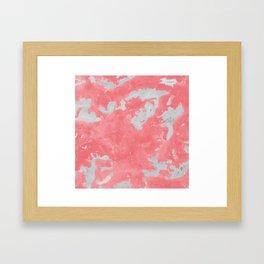 pink marble pattern Framed Art Print