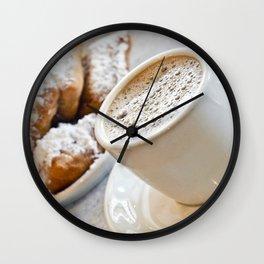 New Orleans Beignets and Café au Lait Wall Clock