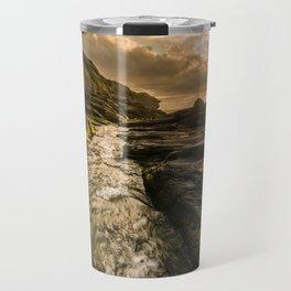 Trebarwith strand sunset Travel Mug