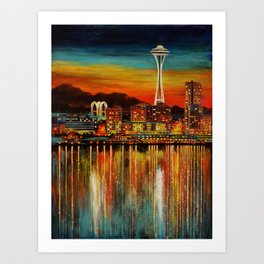 Seattle from Alki Art Print