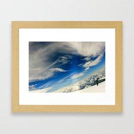 Skydive Cloud Framed Art Print