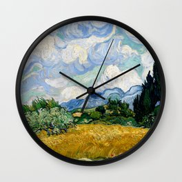 """Vincent van Gogh """"Wheat Field with Cypresses"""" Wall Clock"""
