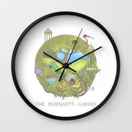 The Elephant's Garden - Version 1 Wall Clock