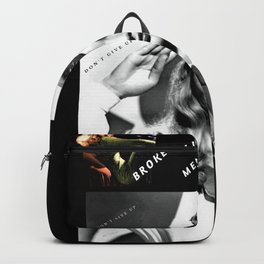 "Veronica Lake Pop-Art - ""Don't Give Up!"" by Jéanpaul Ferro Backpack"