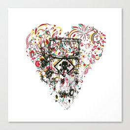 Toxic Love with Skull on the Barrel Canvas Print