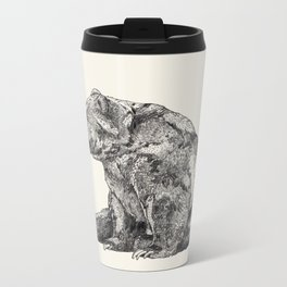 Bear // Graphite Metal Travel Mug
