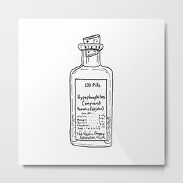 Antique Medical Bottle Metal Print