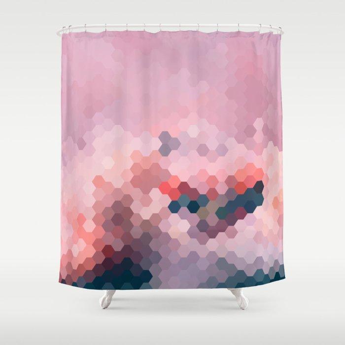 PINKY MINKY Shower Curtain
