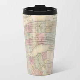 New York City Vintage Map Travel Mug