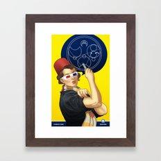 Whovian feminism Framed Art Print