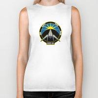 starfox Biker Tanks featuring The Lylat Space Academy by John Medbury (LAZY J Studios)