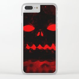 Angry Pumpkin Clear iPhone Case