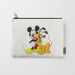 Friends Mickey and Pluto Carry-All Pouch