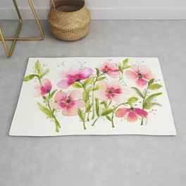 Light Pink Hibiscus Rug