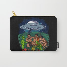 Space Aliens Conspiracy Psychedelic Mushrooms Carry-All Pouch