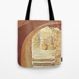 Jerusalem Courtyard Tote Bag