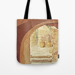 Jerusalem Courtyard Tote Bag