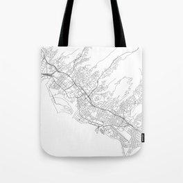 Honolulu White Map Tote Bag