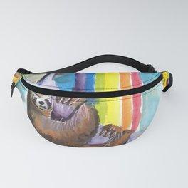 sloth pizza rainbow Fanny Pack