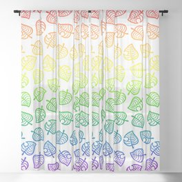 animal crossing villager nook shirt pattern gay pride Sheer Curtain