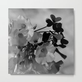 Lemon Clover Wildflowers Bouquet Metal Print