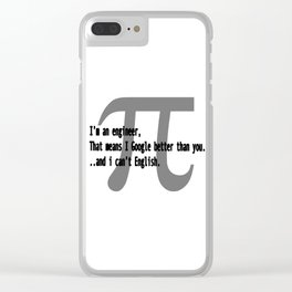 Engineer Skills Clear iPhone Case