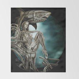 Dolls - Robot Shark Throw Blanket