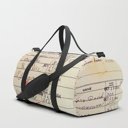 Library Card 23322 Duffle Bag