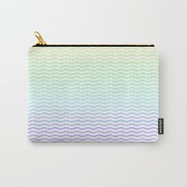 Pastel Rainbow Ombre Chevron Stripe Carry-All Pouch