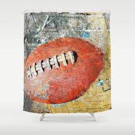 Football art print work vs 1 Shower Curtain