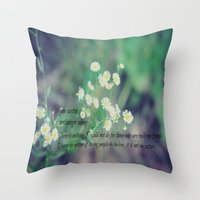 jane austen Throw Pillows featuring Friends Jane Austen by KimberosePhotography