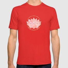 Blush Zen Lotus ~ Metallic Accents T-shirt