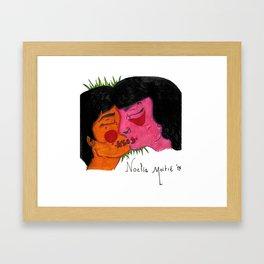 Son los Besos Framed Art Print