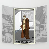 tarot Wall Tapestries featuring The Magician - Tarot Card by kamonkey