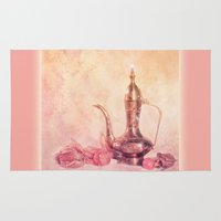 oriental Area & Throw Rugs featuring ORIENTAL DREAM by INA FineArt