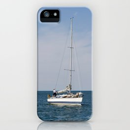 Sailing calm waters iPhone Case