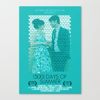 500 days of summer Canvas Prints featuring (500) Days of Summer by Hector Pahaut