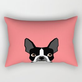 Kennedy - Boston Terrier cute dog themed gifts for small dog owners and Boston Terrier gifts  Rectangular Pillow