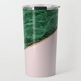 Green Marble with pink Travel Mug