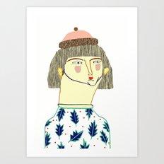 Women. fashion, fashion illustration, fashion print, fashion art, pattern, people, Art Print