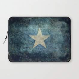 Flag of Somalia - Super Grunge version Laptop Sleeve